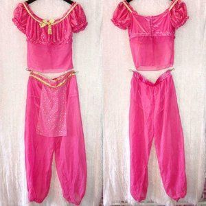 I Dream Of Jeannie SM Costume Pink Gold Sheer Sexy